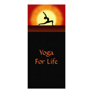 Yoga Sunrise Yoga Pose Silhouette Rack Card