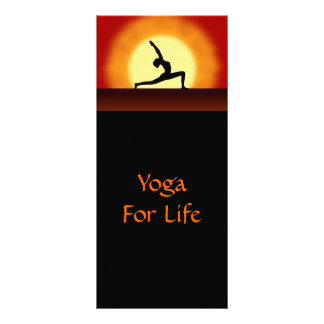 Yoga Sunrise Yoga Pose Silhouette Rackcards Rack Card