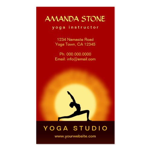Find The Right Design For Your Business Yoga Business Cards J32