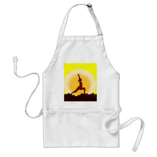 Yoga Sunset Adult Apron