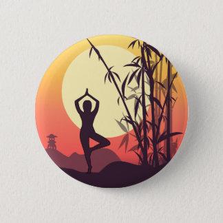 Yoga Sunset Love Pinback Button