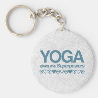 Yoga Superpowers Basic Round Button Keychain