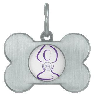 Yoga Symbol Pet Tag