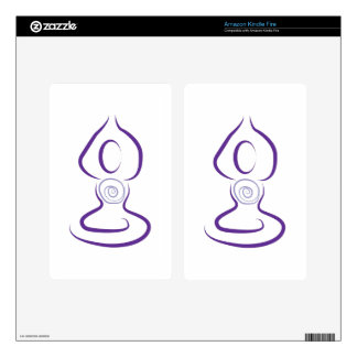 Yoga Symbol Decals For Kindle Fire