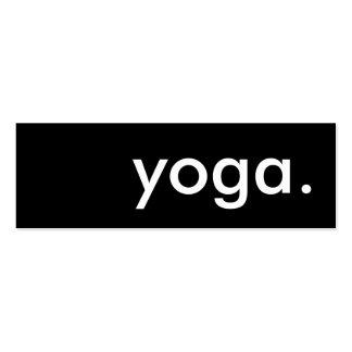 yoga. tarjeta de sacador de la lealtad tarjetas de visita mini