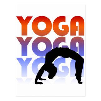 yoga tarjeta postal