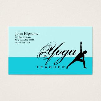 Yoga Teacher Business Card Blue