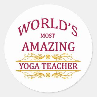 Yoga Teacher Classic Round Sticker