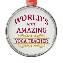 Yoga Teacher Metal Ornament