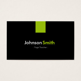 Yoga Teacher Modern Mint Green Business Card