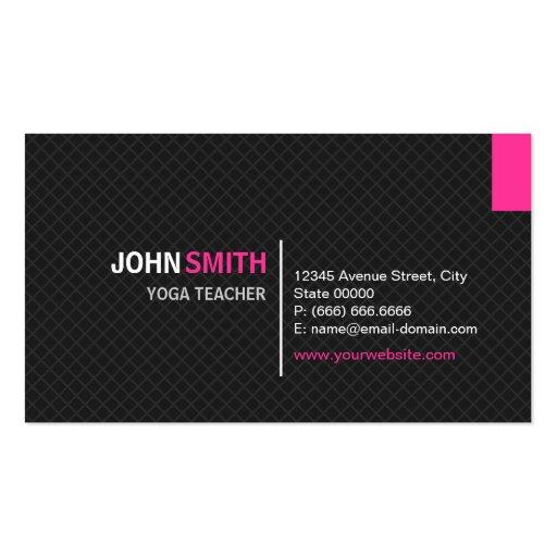 Yoga mat business card templates bizcardstudio yoga teacher modern twill grid business card template reheart Choice Image