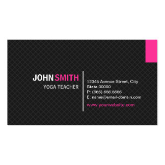 Yoga Teacher - Modern Twill Grid Double-Sided Standard Business Cards (Pack Of 100)