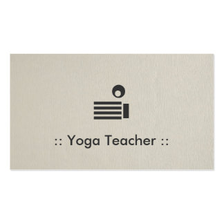 Yoga Teacher Simple Elegant Professional Double-Sided Standard Business Cards (Pack Of 100)