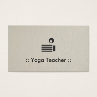 Yoga Teacher Simple Elegant Professional Business Card