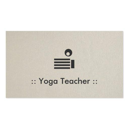 Yoga Teacher Simple Elegant Professional Business Card Templates