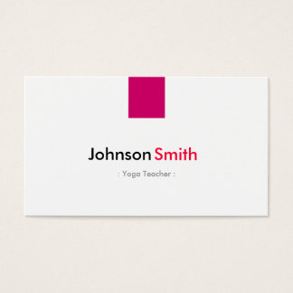Yoga Teacher - Simple Rose Pink Business Card