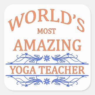Yoga Teacher Square Sticker