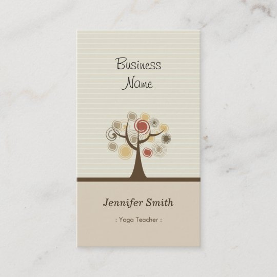 Yoga teacher stylish natural theme business card zazzle yoga teacher stylish natural theme business card reheart Images