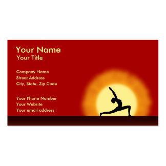 Yoga Teacher Sunrise Pose Horizontal Business Card