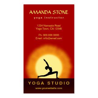 Yoga Teacher Sunrise Pose Vertical Business Cards