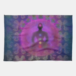 Yoga TeaTowels de la meditación Toalla De Mano