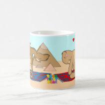 Yoga Teddy Bear Camel Pose Mug