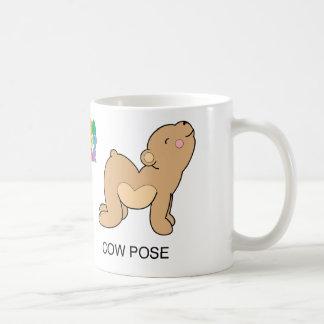 Yoga Teddy Bear Cat / Cow Mug