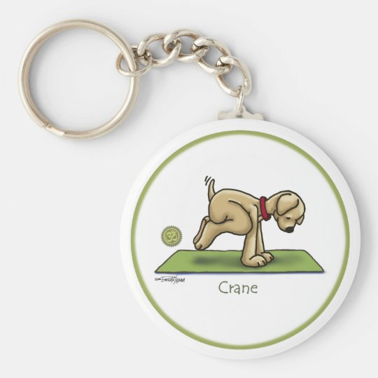 Yoga - The Crane Pose Keychain