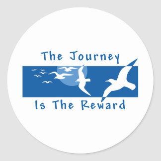 Yoga - The Journey Is The Reward Classic Round Sticker