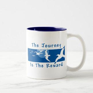 Yoga - The Journey Is The Reward Two-Tone Coffee Mug