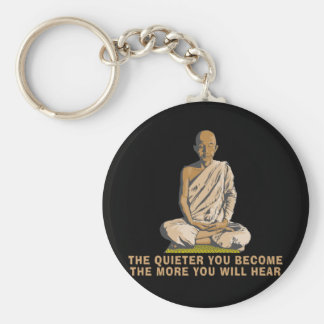 Yoga - The Quieter You Become ... Keychain