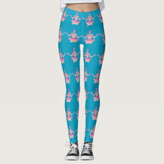 Yoga Theme Water Color Woman Silhouette Any Color Leggings