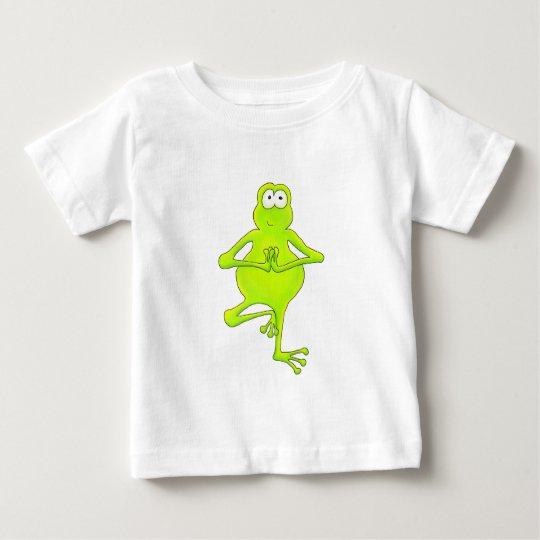 Yoga Tree Frog Baby T-Shirt