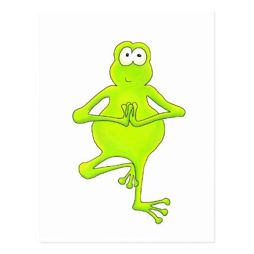 Yoga Tree Frog Postcard