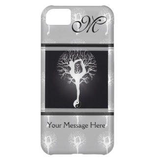 Yoga Tree in Black and White Case For iPhone 5C
