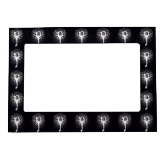 Yoga Tree in Black and White Magnetic Photo Frame