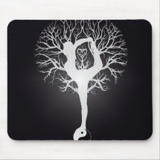 Yoga Tree Mouse Pad