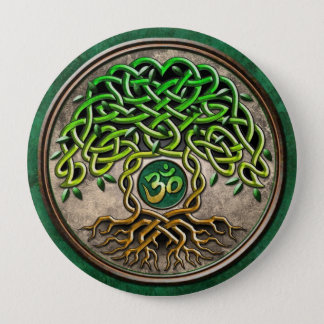 Yoga Tree of Life Button