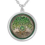 Yoga Tree of Life Silver Plated Necklace