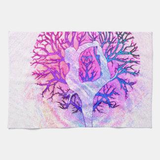Yoga Tree Pastel Rainbow Hand Towel