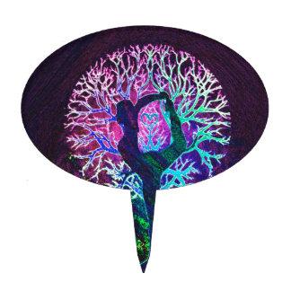 Yoga Tree Peace Rainbow Cake Topper