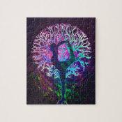 Yoga Tree Peace Rainbow Jigsaw Puzzle (<em>$17.90</em>)