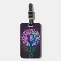 Yoga Tree Peace Rainbow Luggage Tag