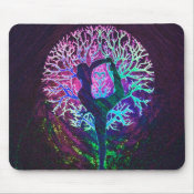 Yoga Tree Peace Rainbow Mouse Pad (<em>$11.60</em>)