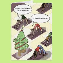Yoga Tree Pose Holiday Card