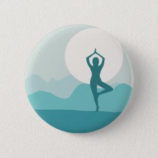 Yoga Tree Pose Pinback Button