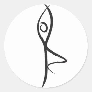 Yoga Tree Pose Sticker