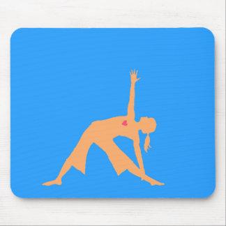 Yoga triangle pose mouse pad