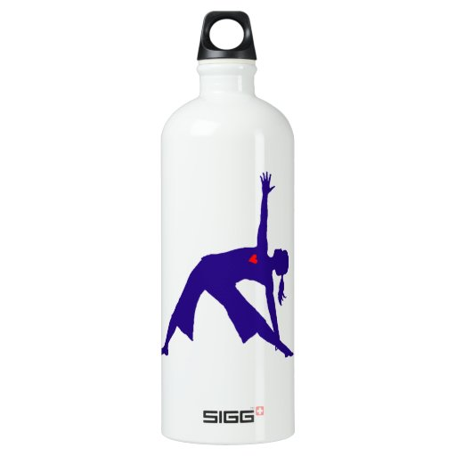 Yoga Triangle Pose Silhouette With Heart SIGG Traveler 1.0L Water Bottle