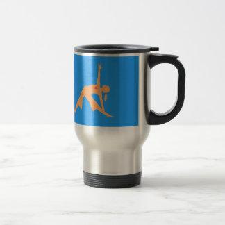 Yoga triangle pose travel mug